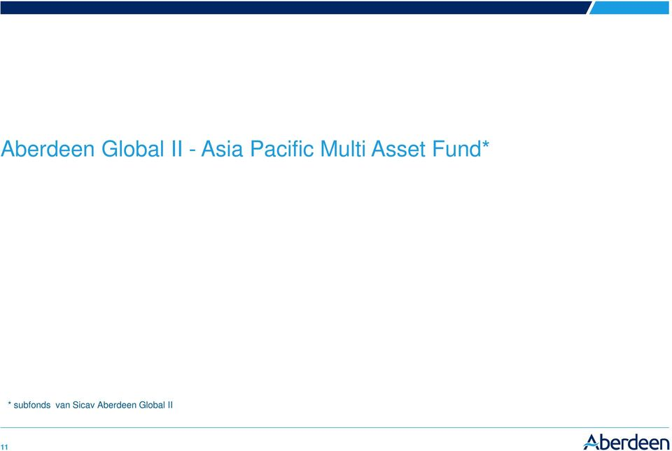 Asset Fund* * subfonds