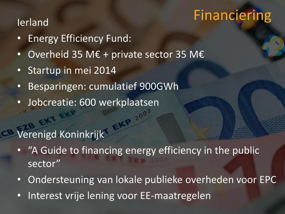 Verenigd Koninkrijk A Guide to financing energy efficiency in the public sector