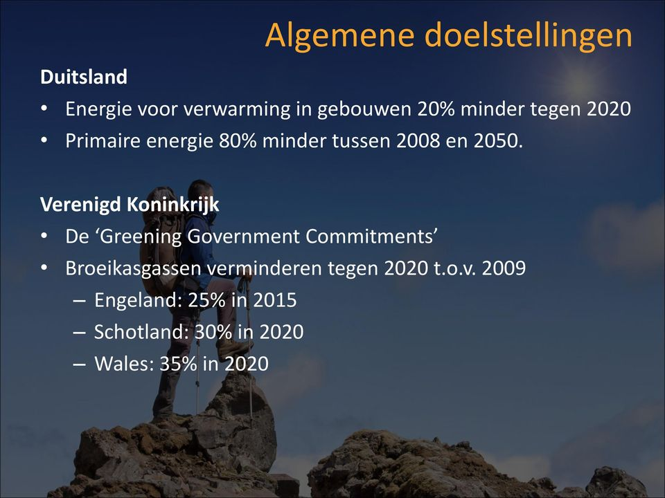 Verenigd Koninkrijk De Greening Government Commitments Broeikasgassen