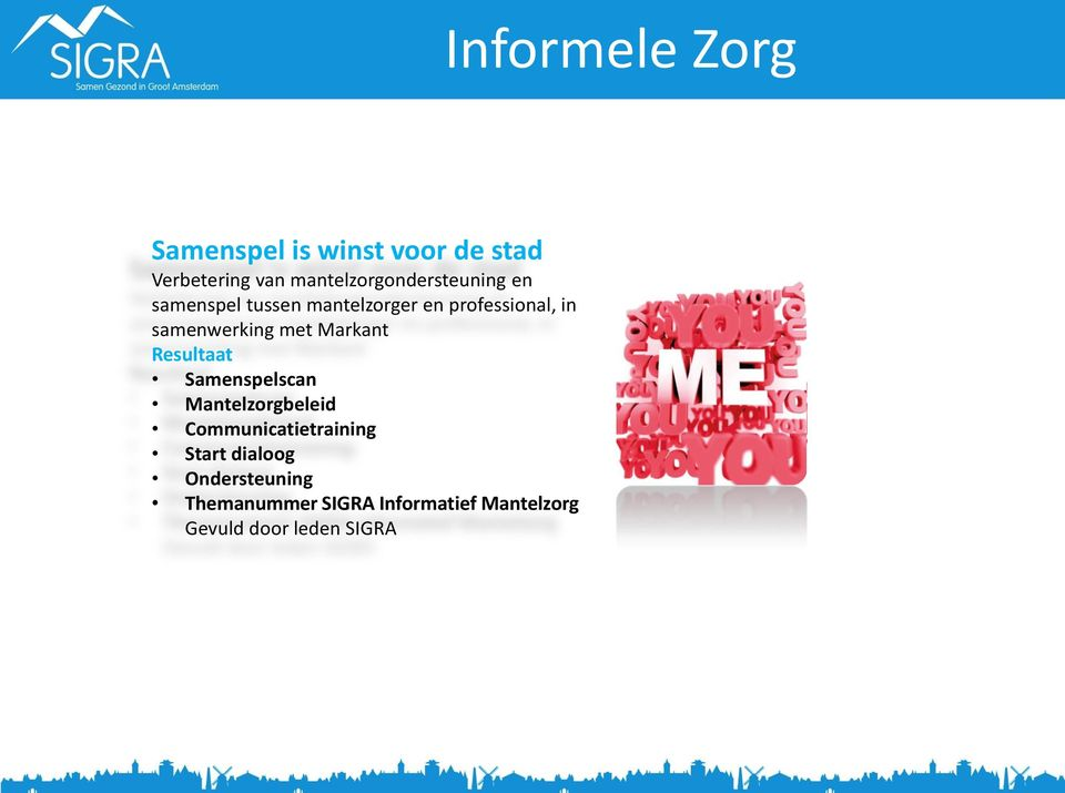 Samenspelscan Mantelzorgbeleid Communicatietraining Start dialoog