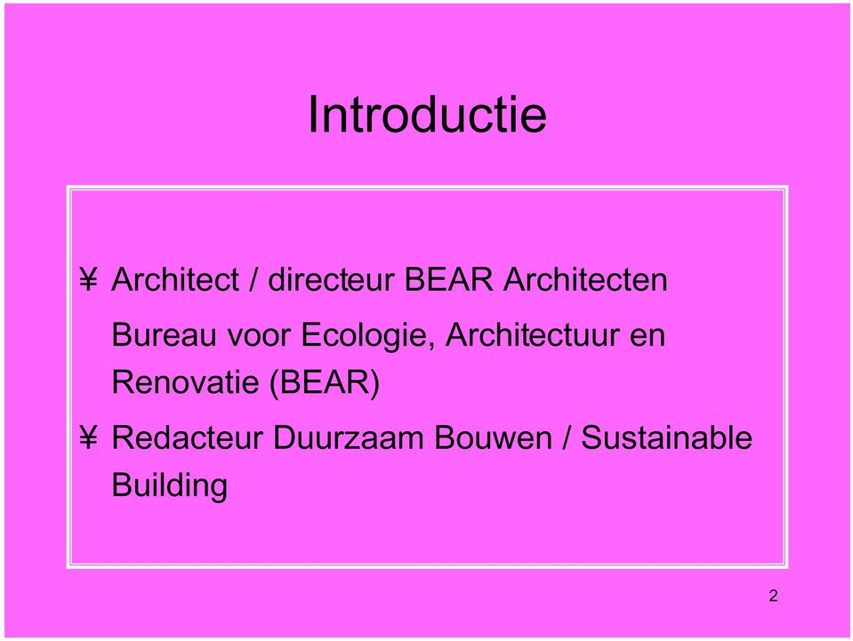 Architectuur en Renovatie (BEAR)