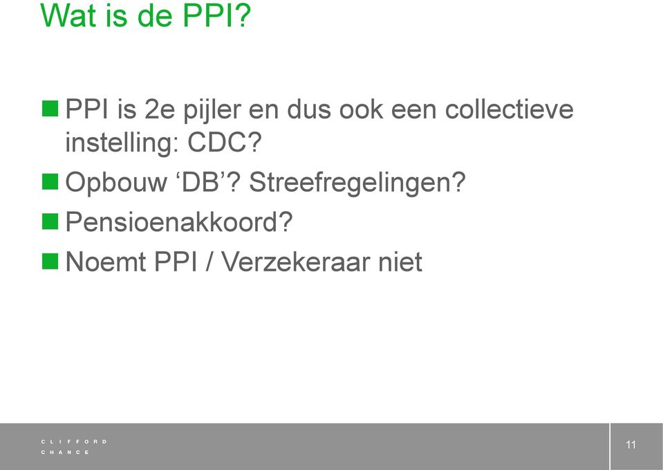 collectieve instelling: CDC? Opbouw DB?