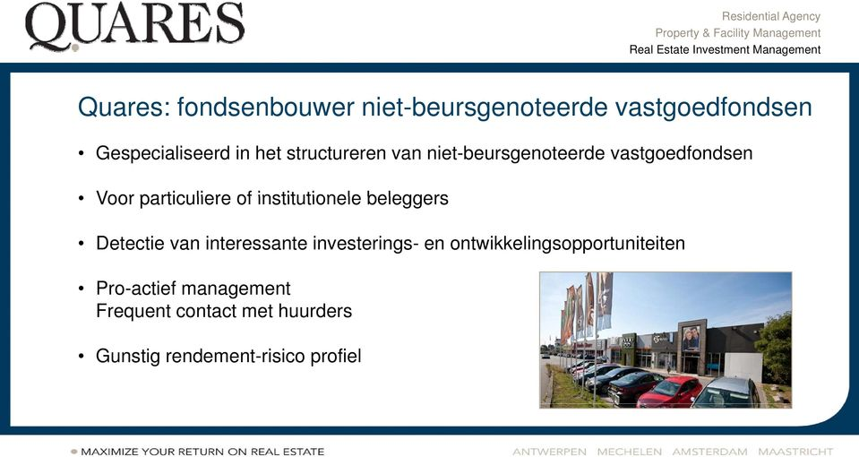 institutionele beleggers Detectie van interessante investerings- en