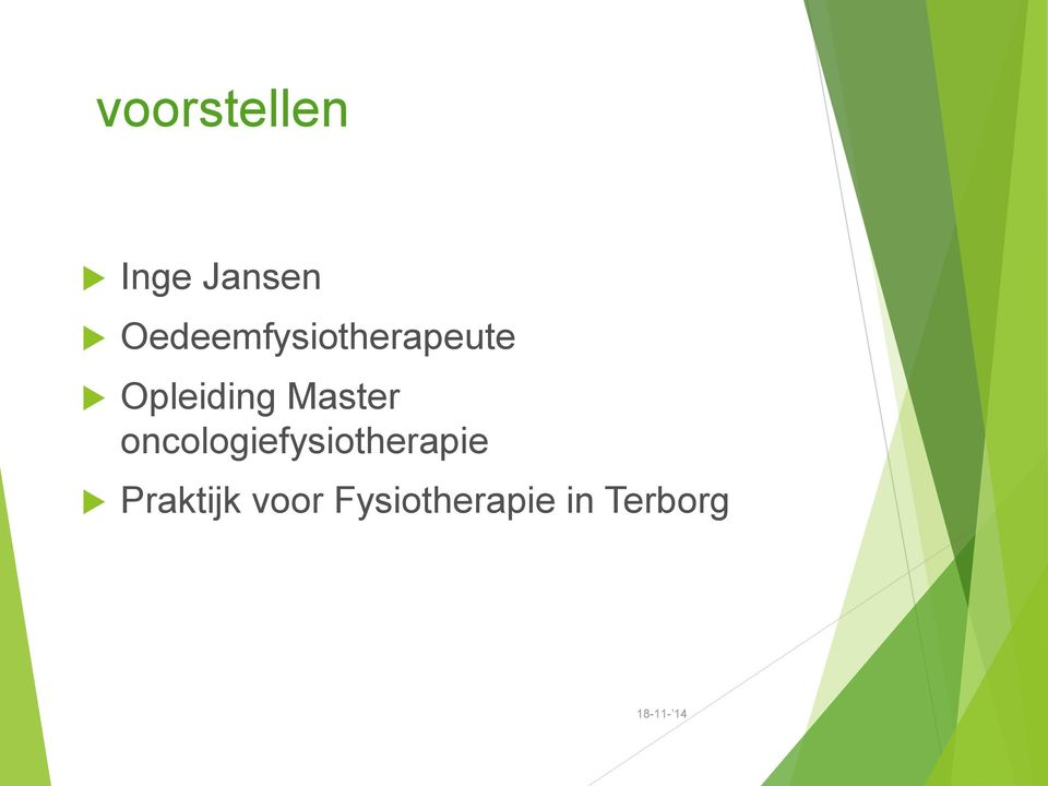Master oncologiefysiotherapie