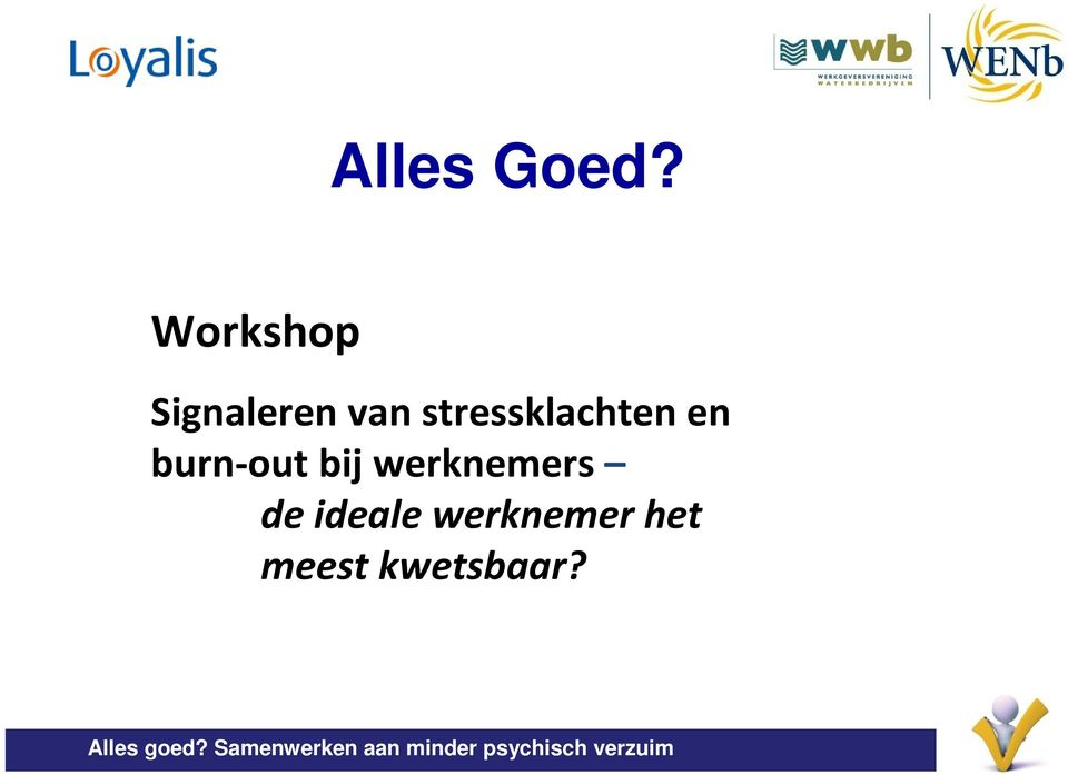 stressklachten en burn-out