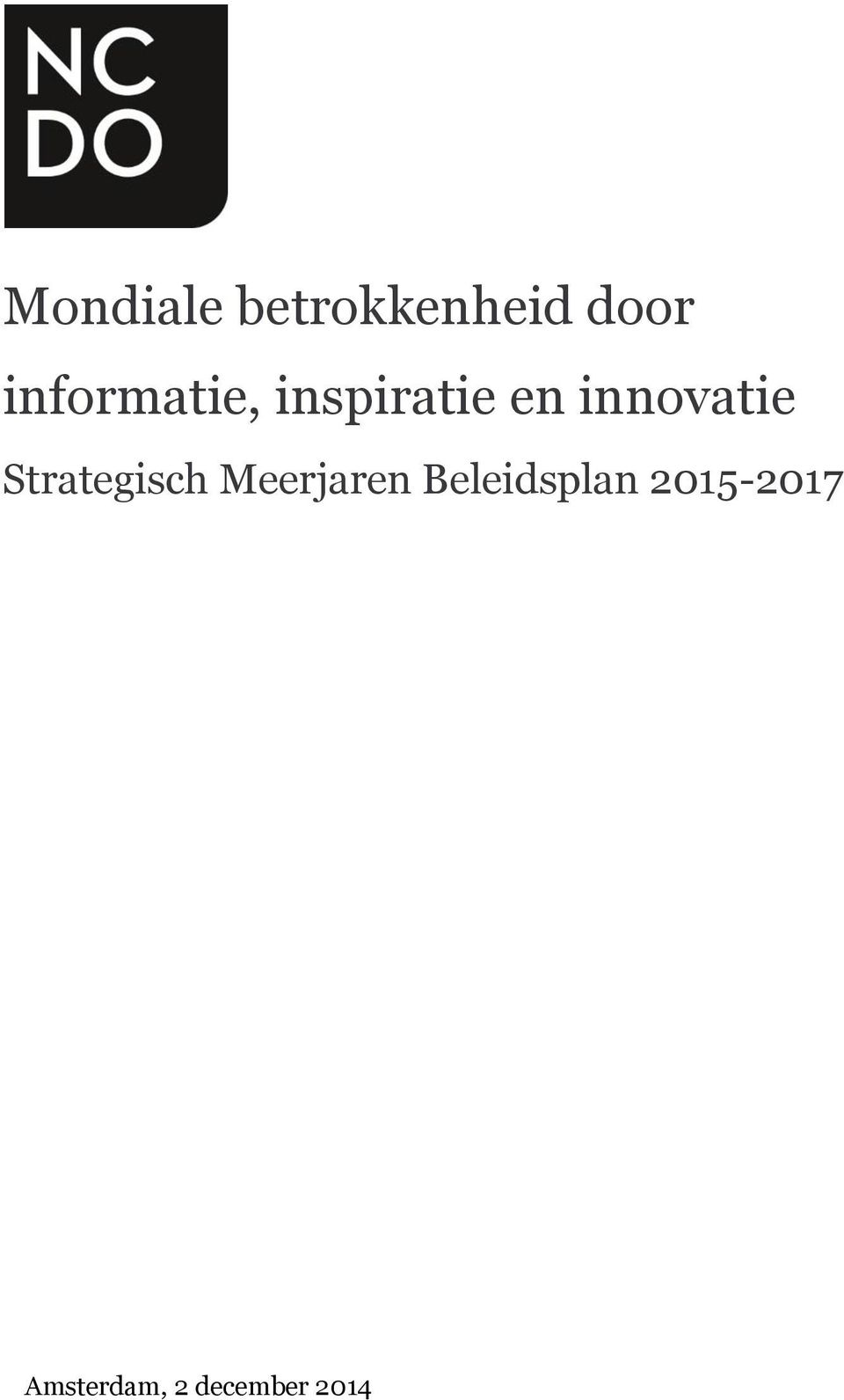 innovatie Strategisch Meerjaren