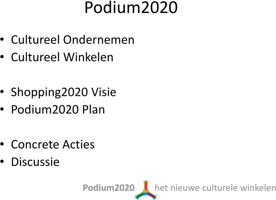Shopping2020 Visie