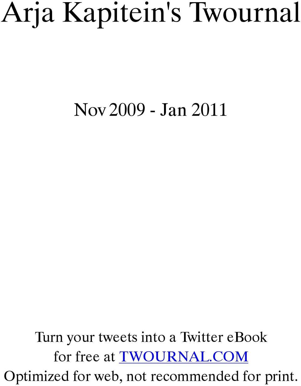 Twitter ebook for free at TWOURNAL.