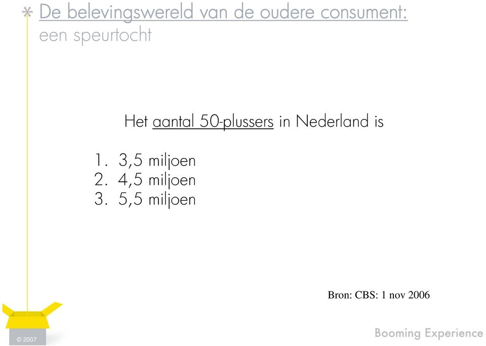 50-plussers in Nederland is 1.