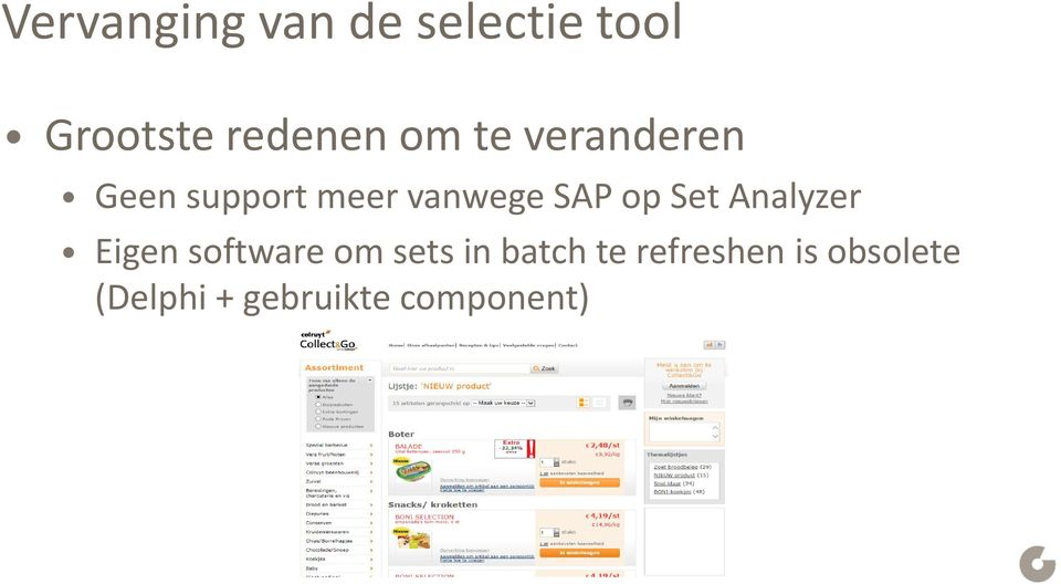 Set Analyzer Eigen software om sets in batch te