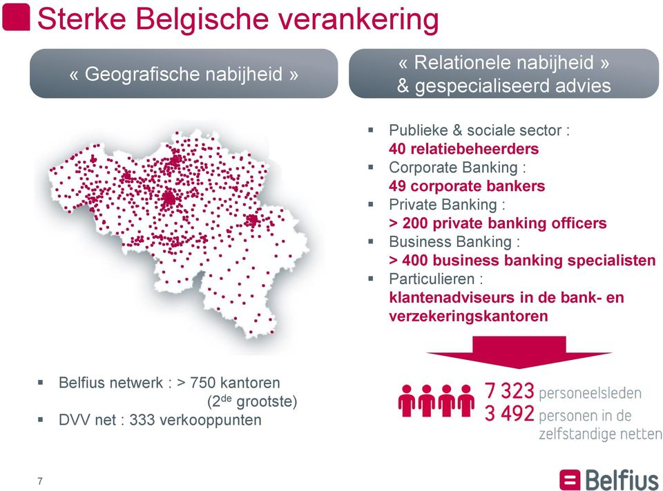 200 private banking officers Business Banking : > 400 business banking specialisten Particulieren :
