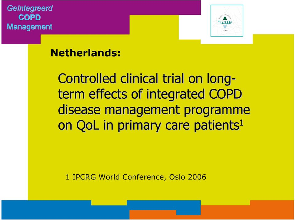 integrated COPD disease management programme on QoL