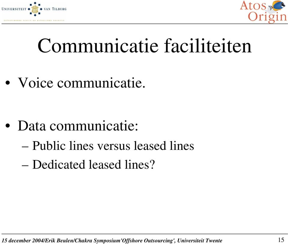 Data communicatie: Public