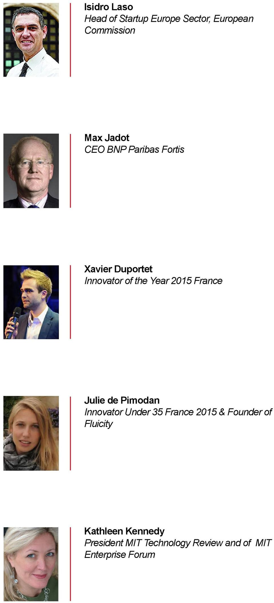 Julie de Pimodan Innovator Under 35 France 2015 & Founder of Fluicity