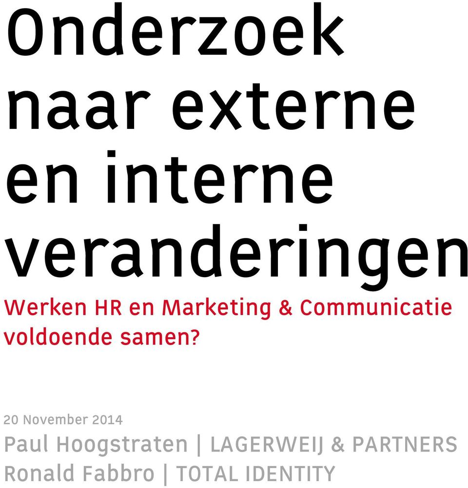 Marketing & Communicatie voldoende