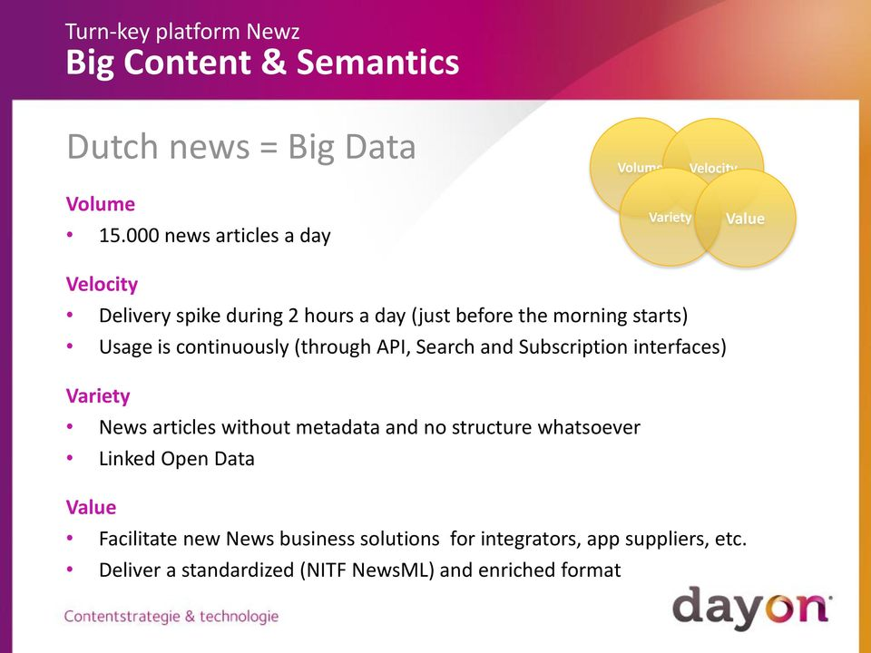 starts) Usage is continuously (through API, Search and Subscription interfaces) Variety News articles without