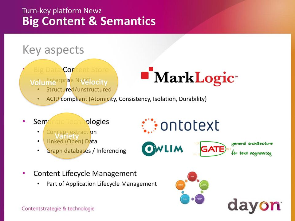 Durability) Semantic Technologies Concept extraction Variety Linked (Open) Data