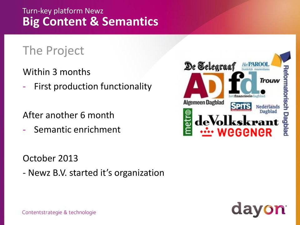 6 month - Semantic enrichment October