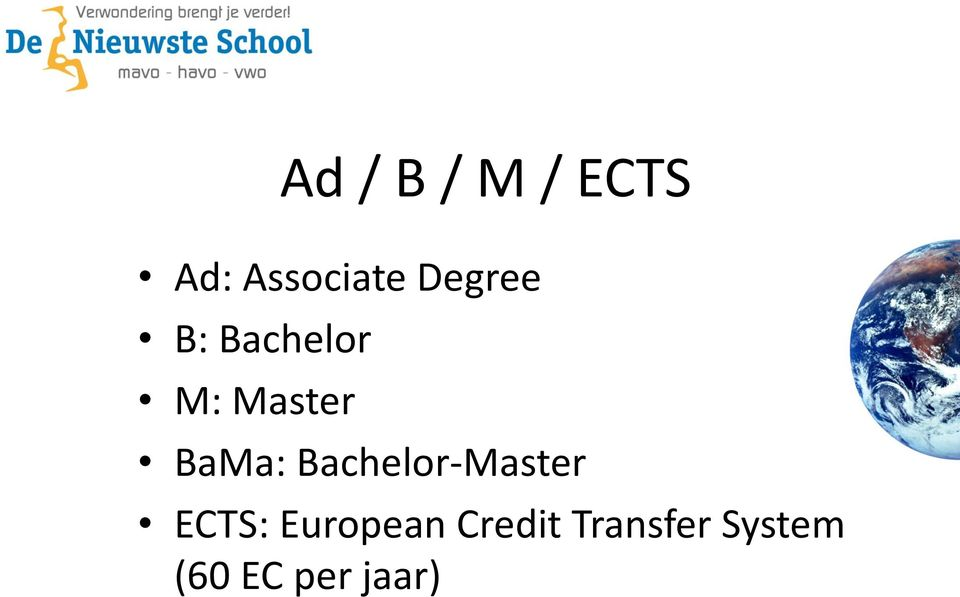 Bachelor-Master ECTS: European