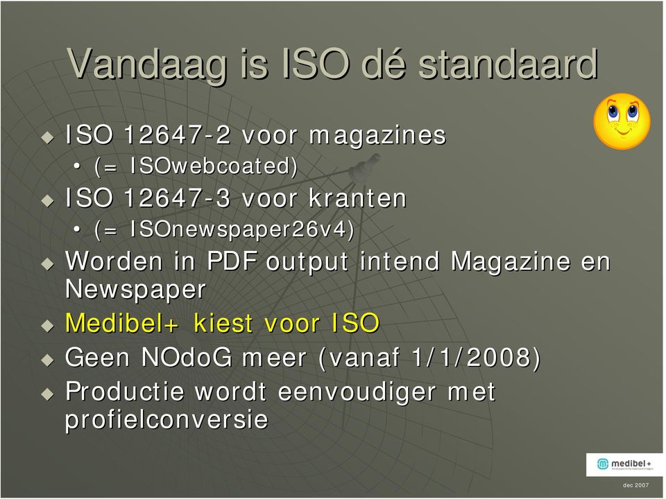 in PDF output intend Magazine en Newspaper Medibel+ kiest voor ISO