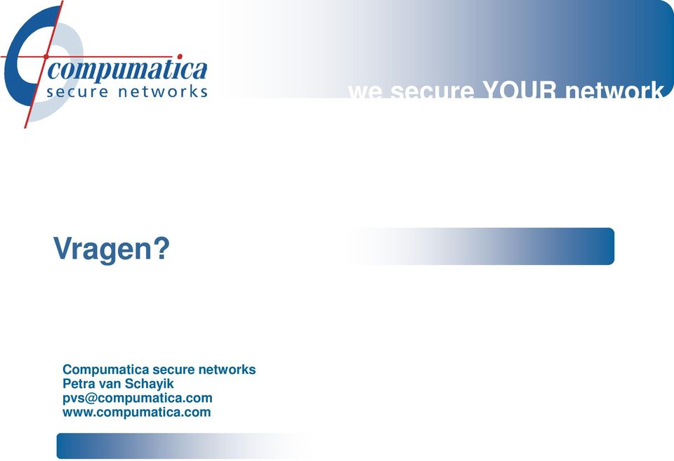 Compumatica secure networks
