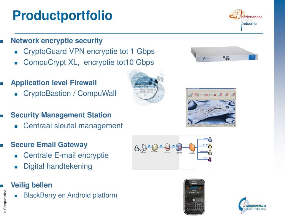 CompuWall Security Management Station Centraal sleutel management Secure Email