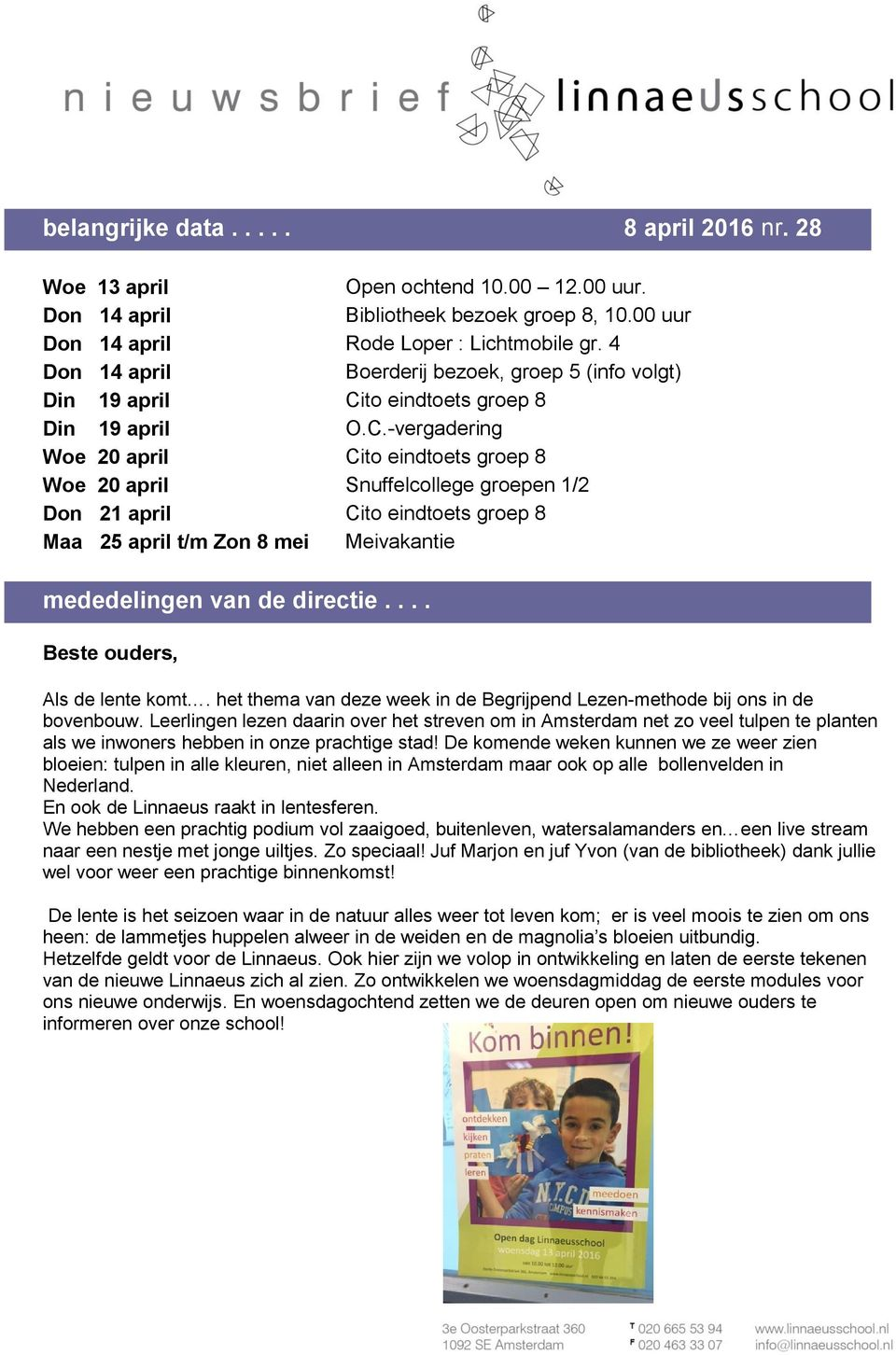 to eindtoets groep 8 Din 19 april O.C.