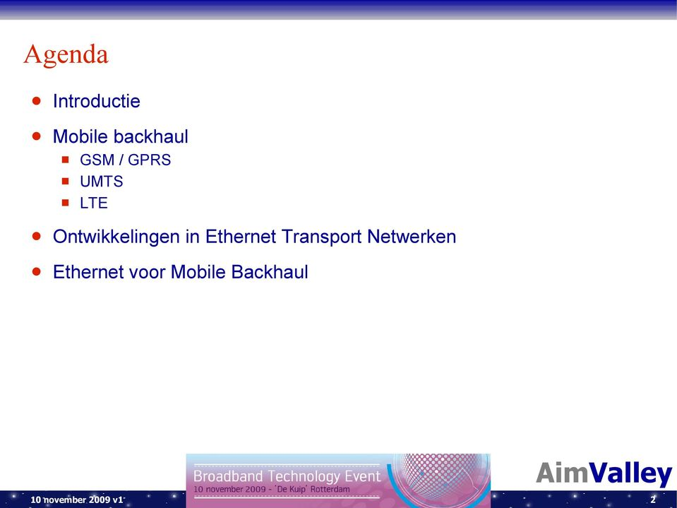Ethernet Transport Netwerken Ethernet