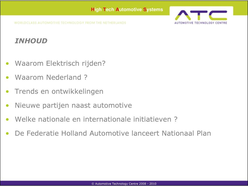 automotive Welke nationale en internationale