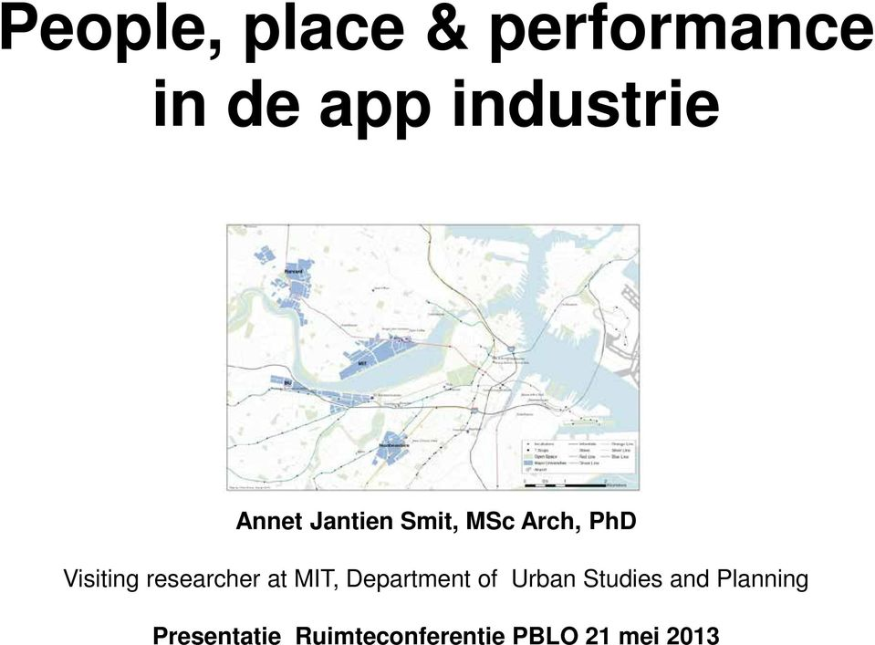 researcher at MIT, Department of Urban Studies