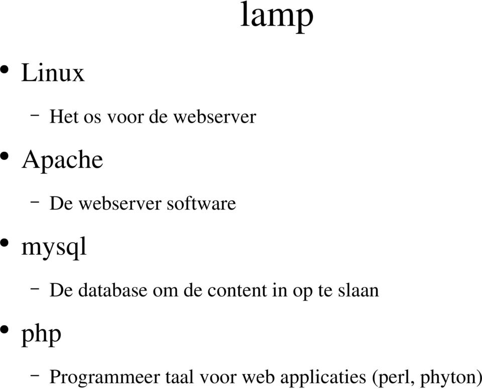 database om de content in op te slaan php
