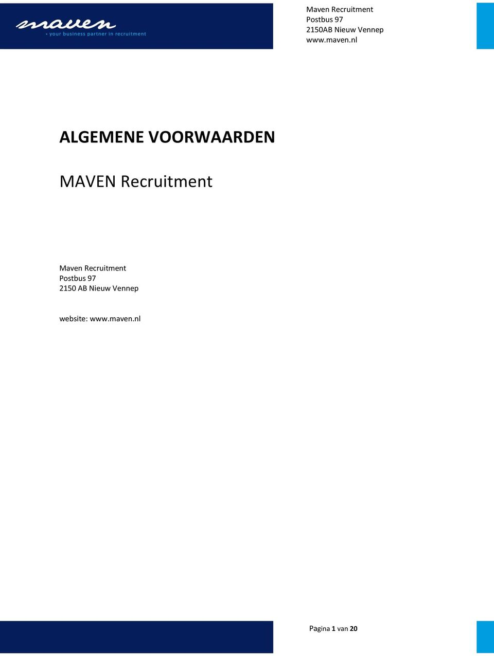 Recruitment 2150 AB Nieuw