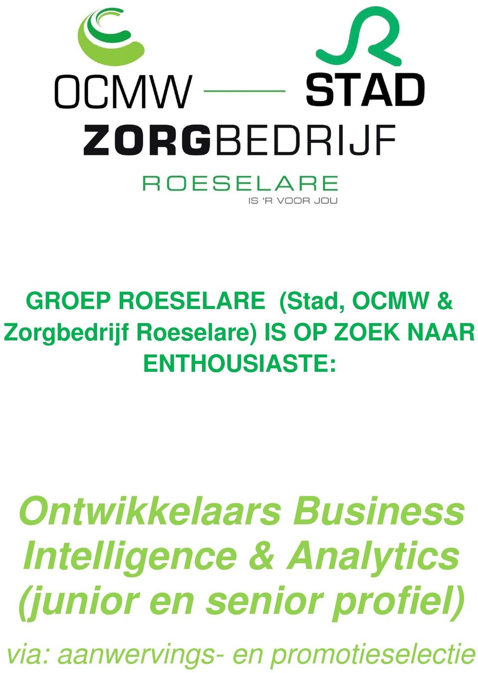 Ontwikkelaars Business Intelligence & Analytics