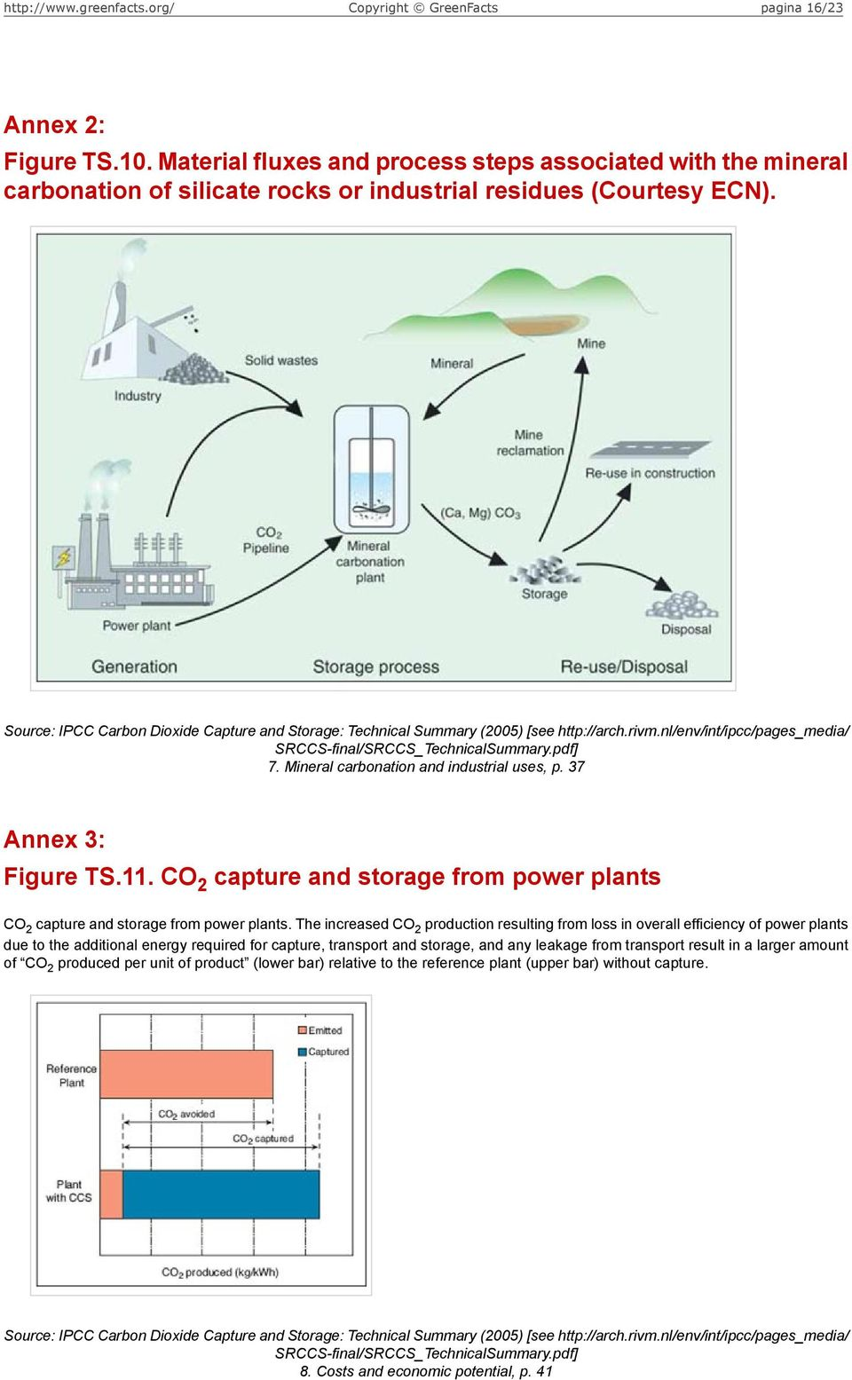The increased CO 2 production resulting from loss in overall efficiency of power plants due to the additional energy required for capture, transport and storage, and any