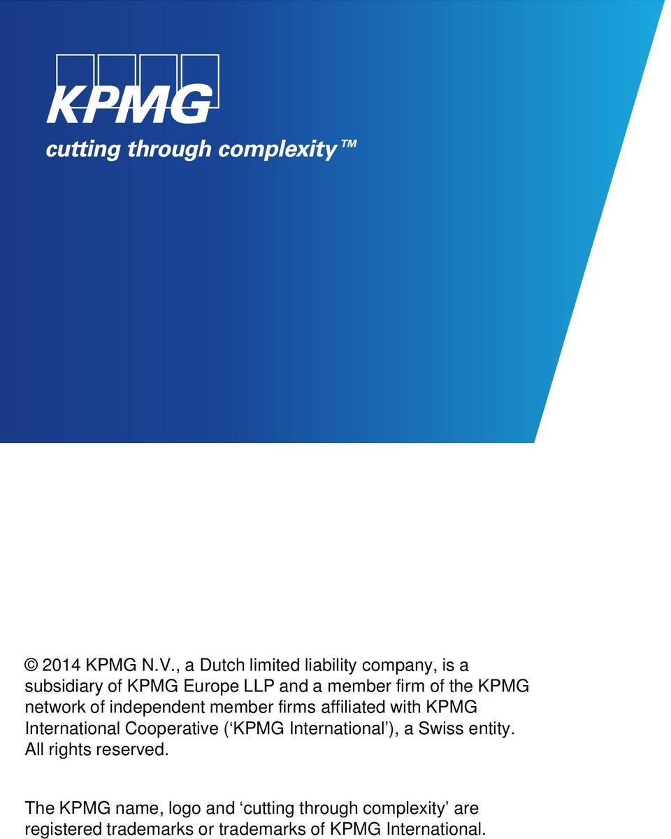 the KPMG network of independent member firms affiliated with KPMG International Cooperative (