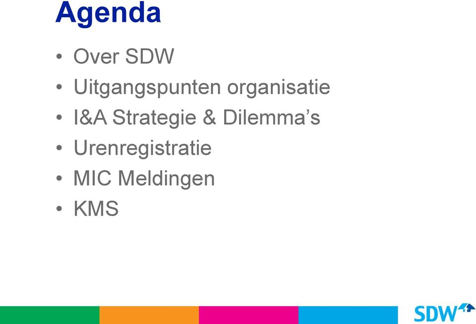 organisatie I&A Strategie