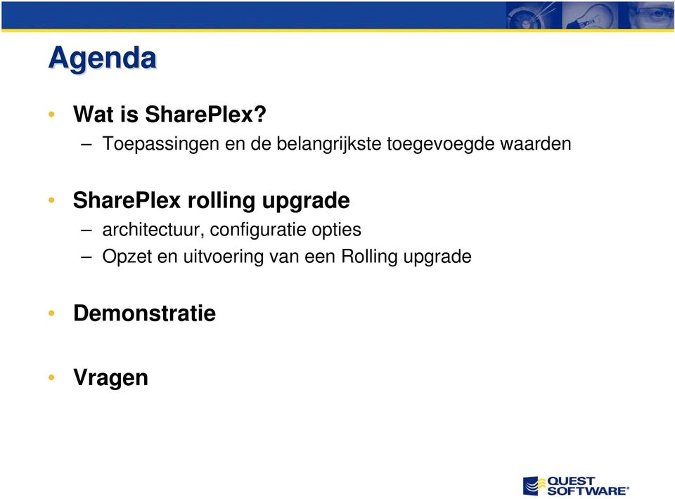 waarden SharePlex rolling upgrade architectuur,