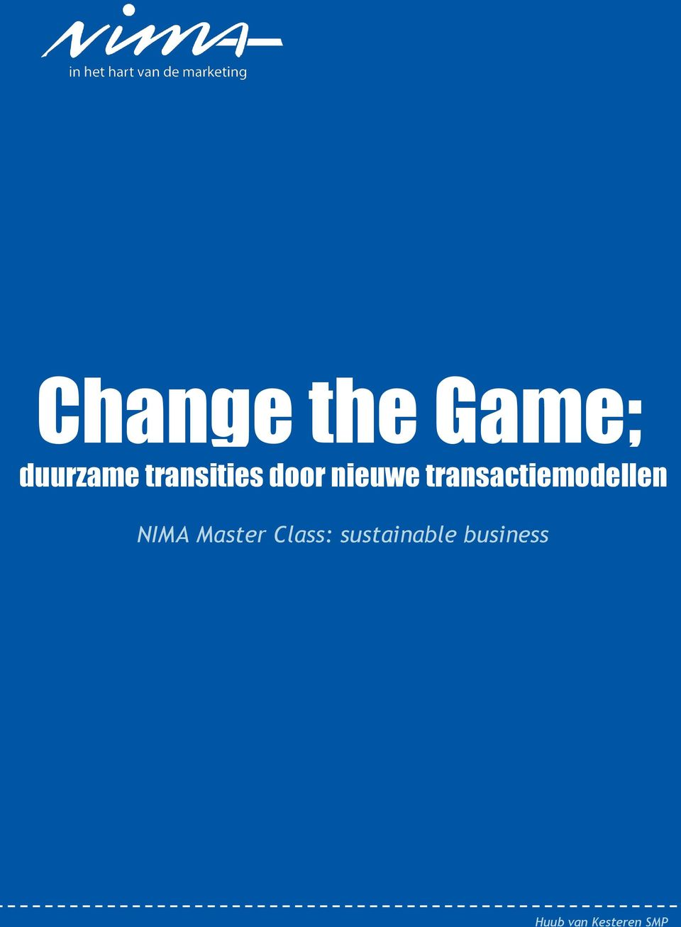 Master Class: sustainable business