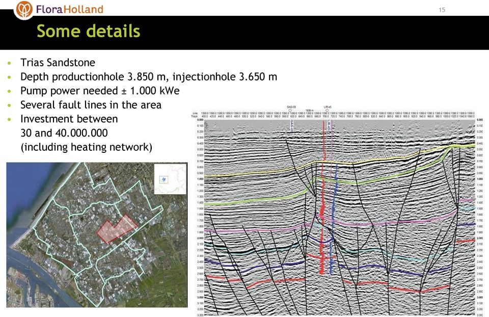 000 kwe Several fault lines in the area Investment