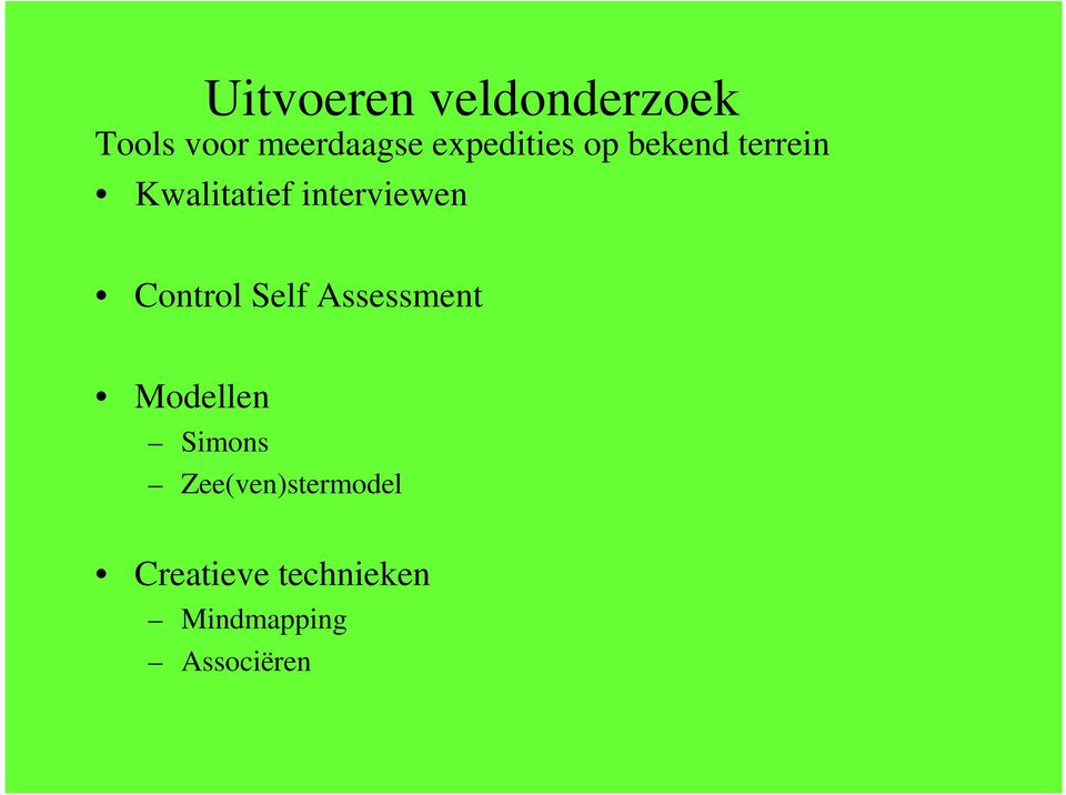 interviewen Control Self Assessment Modellen