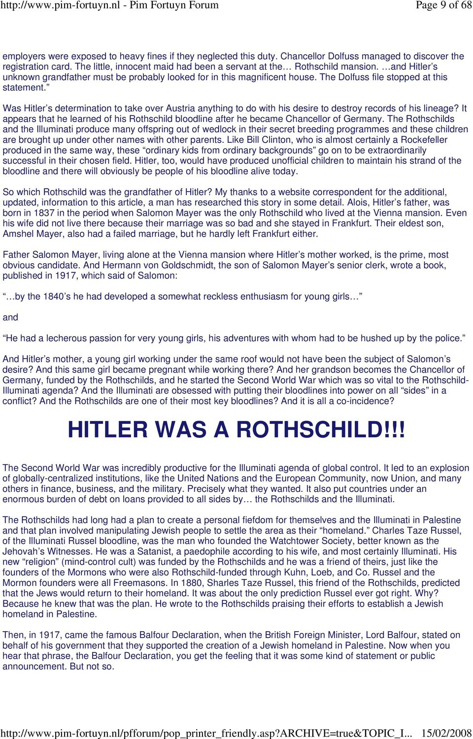 The Dolfuss file stopped at this statement. Was Hitler s determination to take over Austria anything to do with his desire to destroy records of his lineage?
