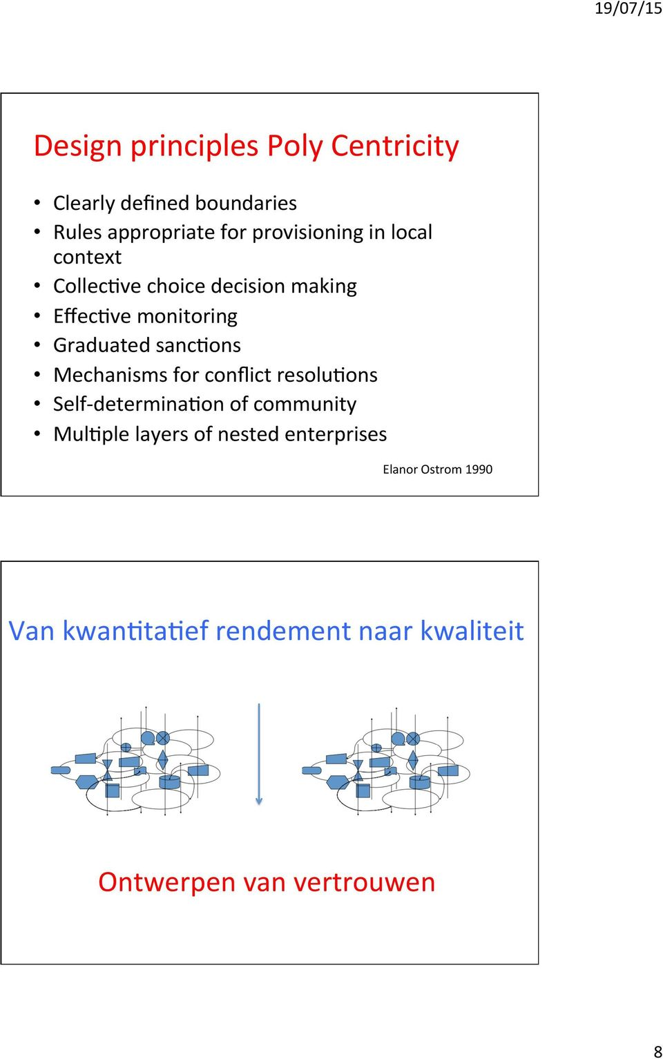 sancbons Mechanisms for conflict resolubons Self- determinabon of community MulBple layers of