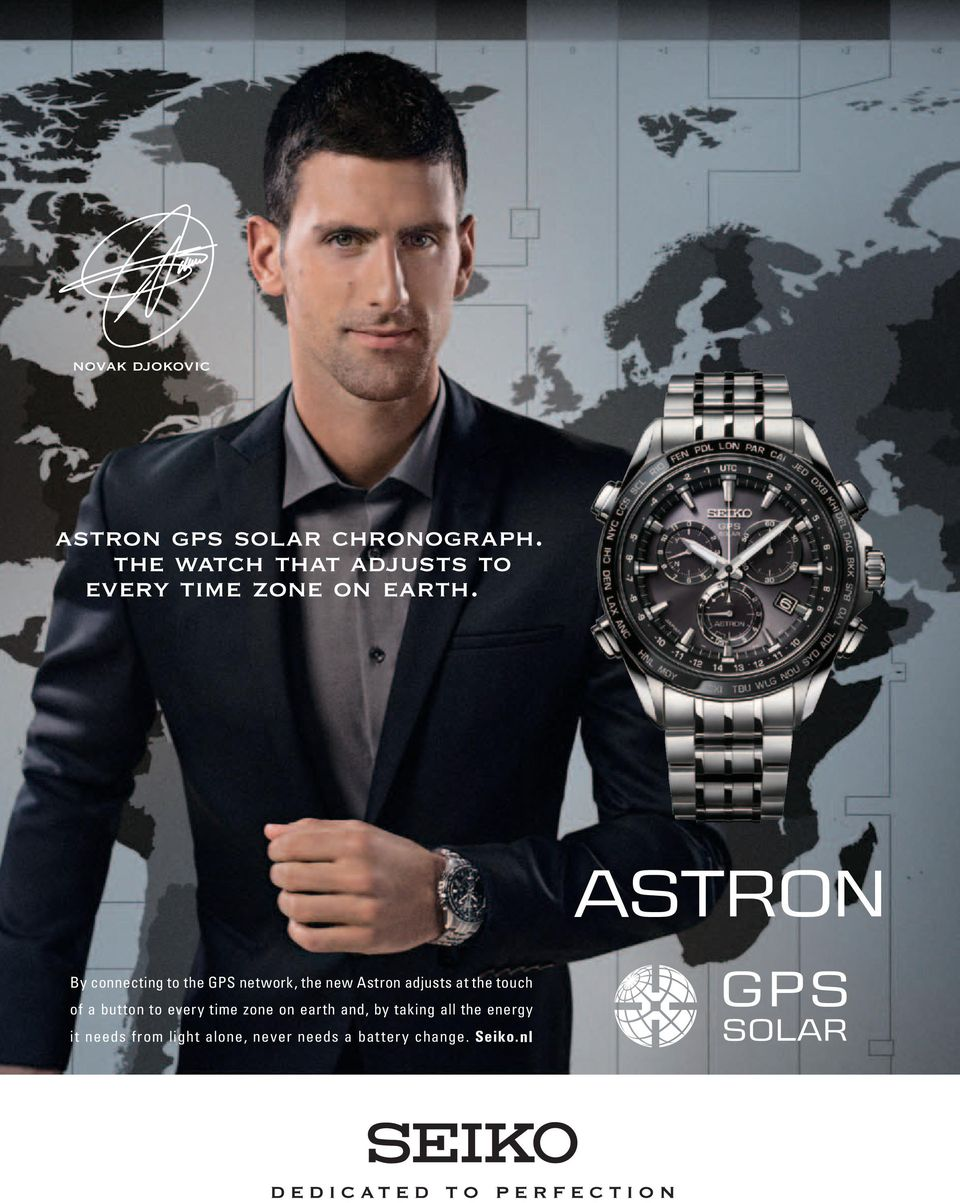 By connecting to the GPS network, the new Astron adjusts at the touch of a