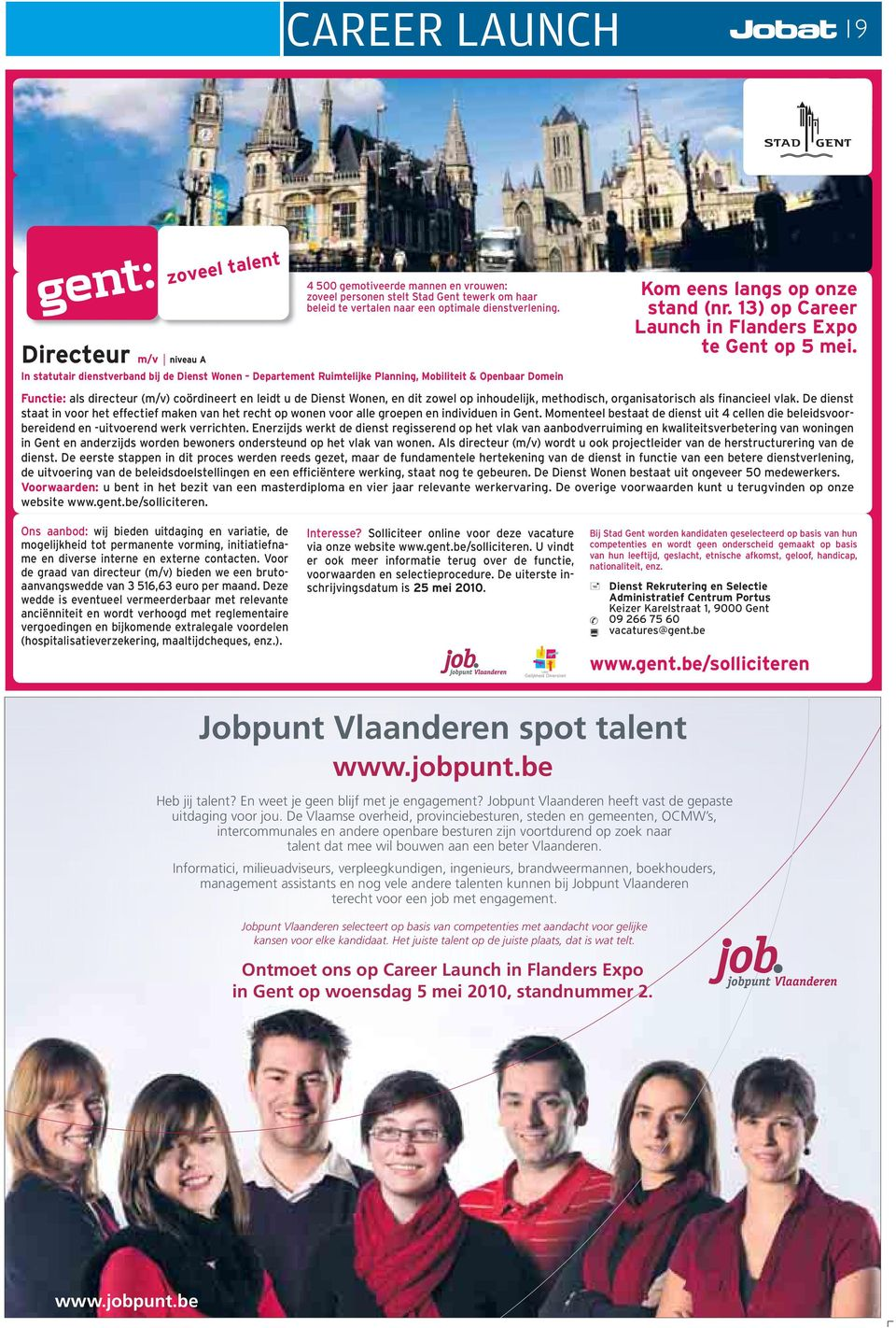 13) op Career Launch in Flanders Expo te Gent op 5 mei.