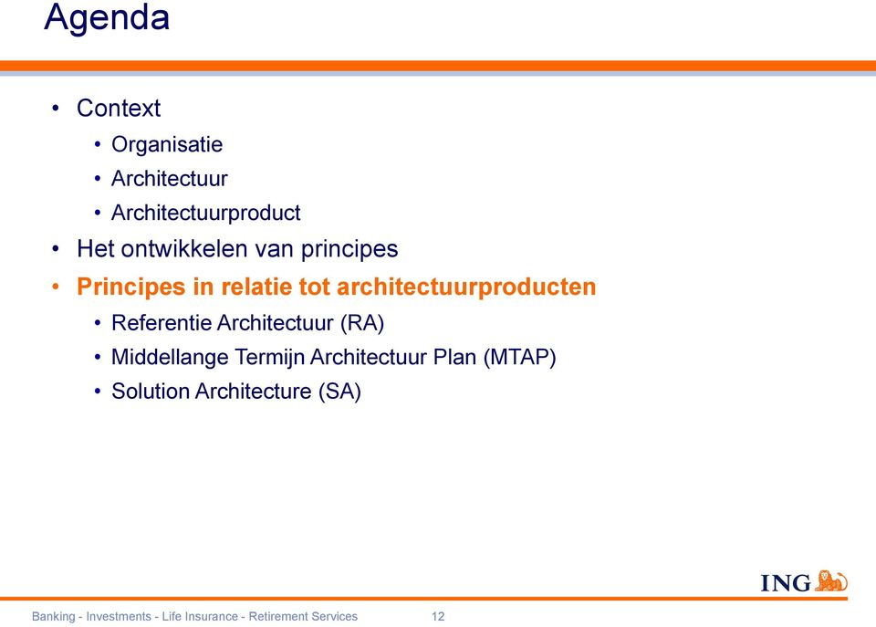 Architectuur (RA) Middellange Termijn Architectuur Plan (MTAP) Solution