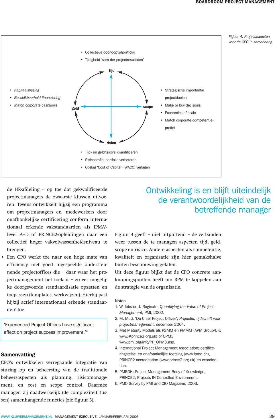 projectdoelen Match corporate cashflows geld scope Make or buy decisions Economies of scale Match corporate competentieprofiel risico Tijd- en geldrisico s kwantificeren Risicoprofiel portfolio