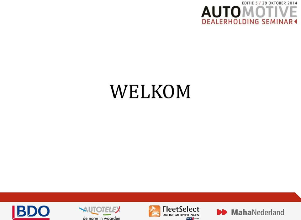 Dealerseminar wordt