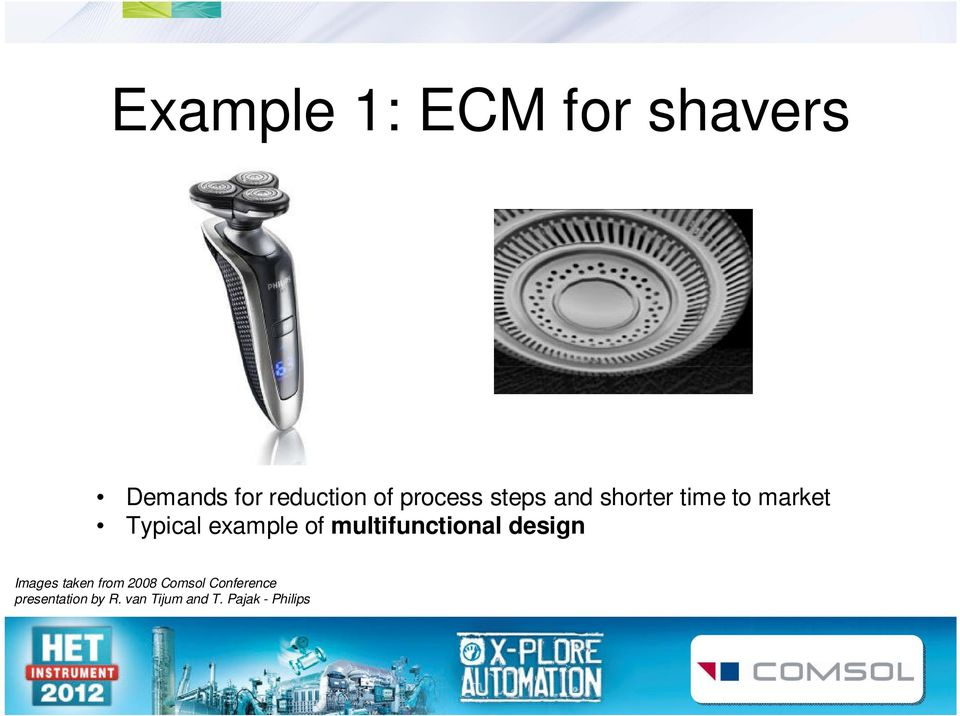 of multifunctional design Images taken from 2008 Comsol