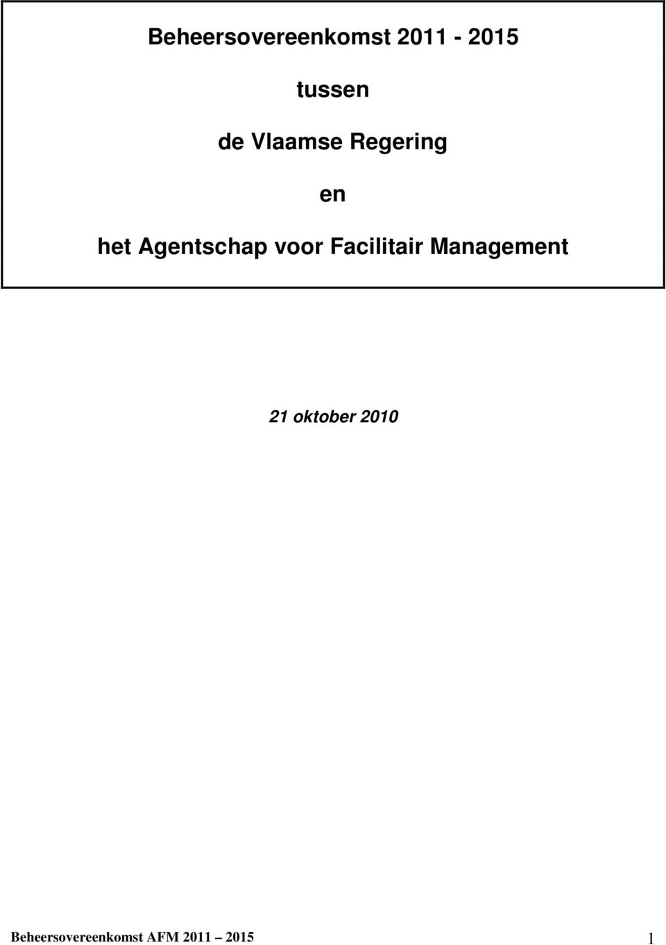 voor Facilitair Management 21 oktober