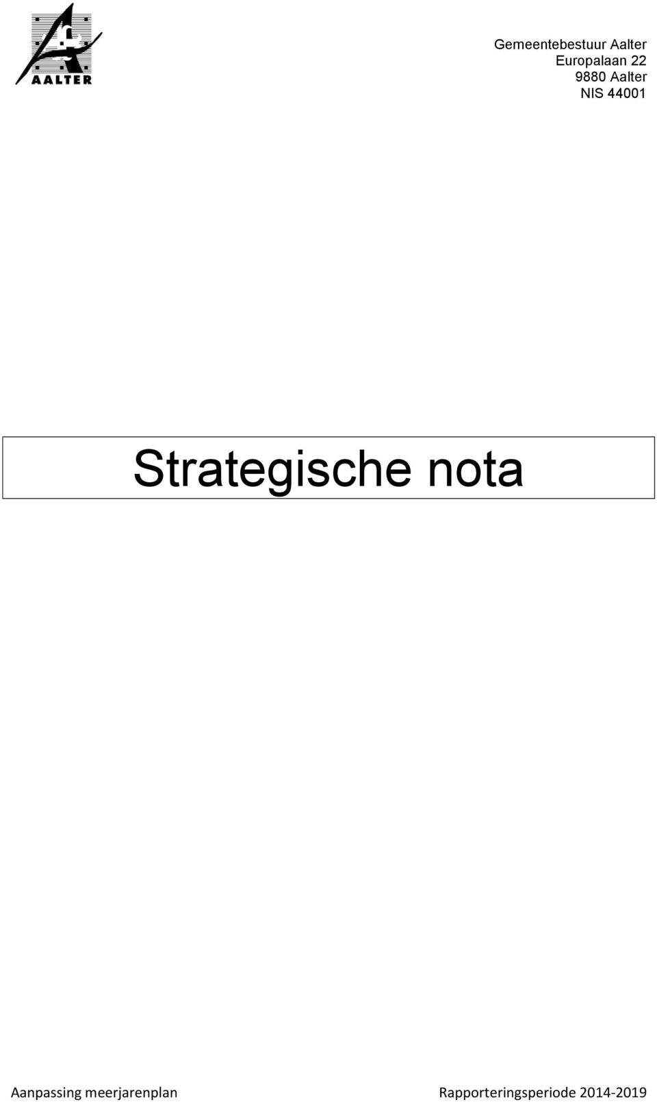 44001 Strategische nota